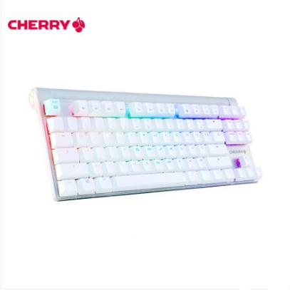 樱桃(CHERRY)MX8.0 G80-3888HYAEU-0 87键RGB背光 白色 樱桃红轴